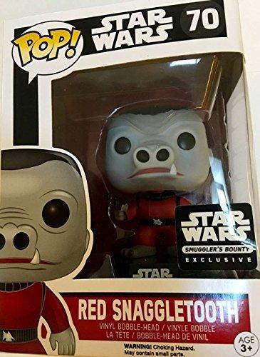 Pop vinyl POP Vinyl Star Wars Bobble Head Funko POP Star Wars Red Snaggletooth Smugglers Bounty ExclusiveVinyl parallel import goods
