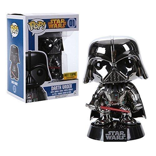 Funko POP Chrome Darth Vader Exclusive Star Wars Bobblehead Figure by FunKo