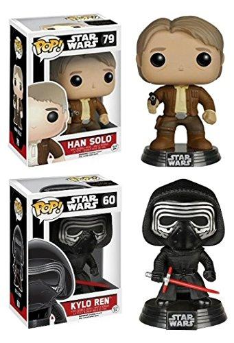 Funko POP Star Wars Episode VII - Han Solo 79 Kylo Ren 60 Vinyl Bobble-Heads NEW