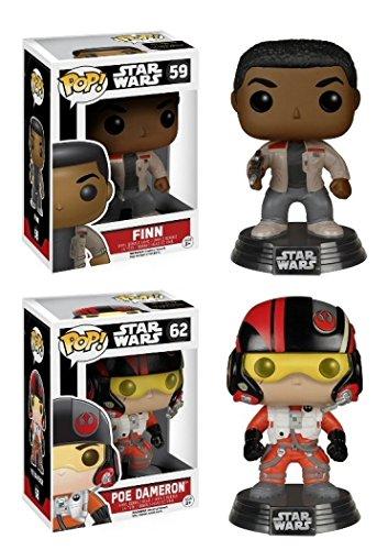 Funko POP Star Wars Episode VII - Finn Poe Vinyl Bobble-Heads 2 Pack NEW