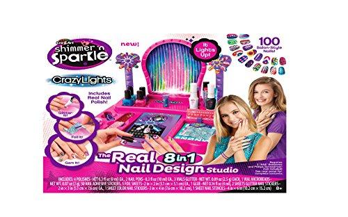 Cra-Z-Art Shimmer and Sparkle Crazy Lights Super Nail Salon Kit