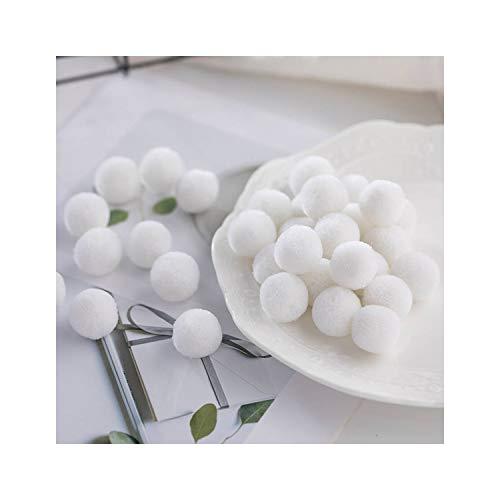Multi Size Pom 15Mm 20Mm 30Mm 40Mm Soft Pompones Fluffy Plush Crafts DIY Pompoms Ball Fur Ball Home Decor Scarf Sewing SuppliesC01 White20Mm 40Pcs