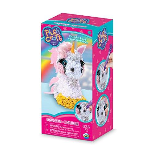 THE ORB FACTORY LIMITED 10027964 Plush Craft 3D Unicorn 5 x 4 x 10 PinkWhiteYellowGrey