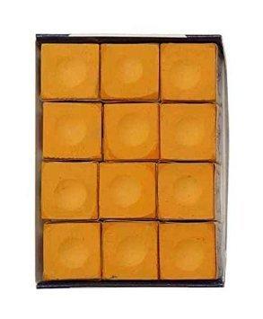 Silver Cup Orange Pool Cue Chalk - 12 Pc Set