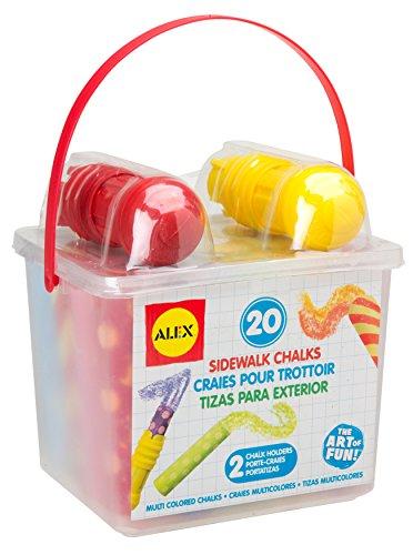 ALEX Toys Artist Studio 20 Sidewalk Chalks with 2 Holders