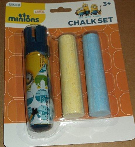 Sidewalk Chalk Minions 3 Piece Sidewalk Chalk Set - 1 chalk holder 2 pieces of jumbo chalk