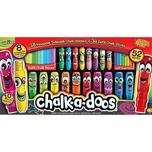 Weevil Chalk A Doos Side walk Chalk w Chalk Holder 52Pc Monsters