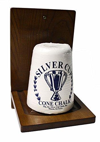 Wooden Cone Pool Billiard Chalk Holder Silver Cup Cone Chalk