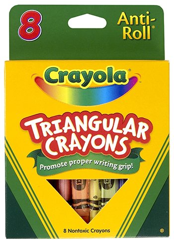 Crayola  Triangular Crayons Wax 8 Colors per Box -- Sold as 2 Packs of - 8 -  - Total of 16 Each