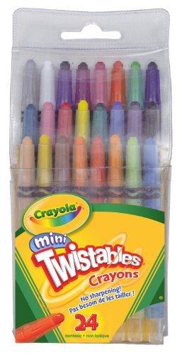 Bulk Buy Crayola Mini Twistables Crayons 24Pkg-8 Bright 8 Neon 8 Rainbow Colors 2-Pack by Crayola