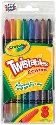 Bulk Buy Crayola Twistables Crayons 8Pkg Classic Colors 52-7408 3-Pack