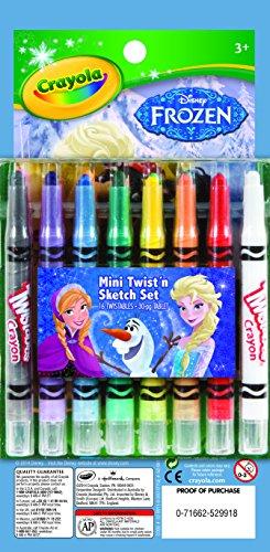 Crayola Frozen Mini Twistable Crayon Paper Set