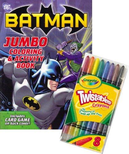 DC Comics BATMAN Coloring Book Set with Crayola Twistable Crayons