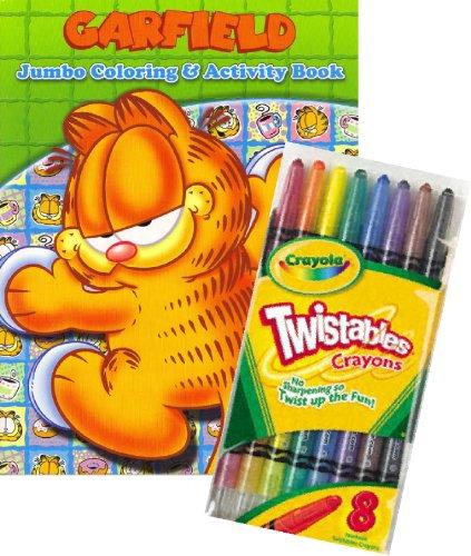 Garfield Coloring Book Set with Crayola Twistable Crayons