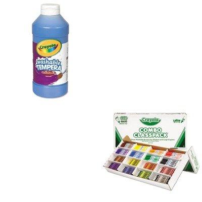 KITCYO523348CYO543115042 - Value Kit - Crayola Classpack Crayons wMarkers CYO523348 and Crayola Artista II Washable Tempera Paint CYO543115042