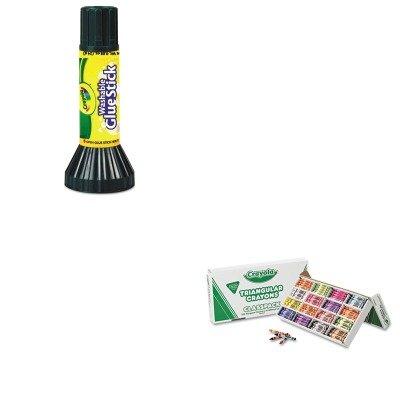 KITCYO528039CYO561135 - Value Kit - Crayola Classpack Triangular Crayons CYO528039 and Crayola Washable Glue Stick CYO561135