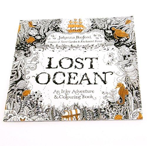 Wrisky Lost Ocean Drawing Coloring Book Graffiti Books Adult Painting Children