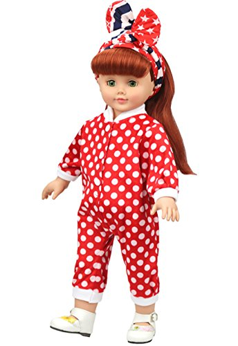 American Doll Clothes Outfit Doll Pajamas For 18 Inch Girl Dolls Christmas Gift New Year Gift Present For Girls