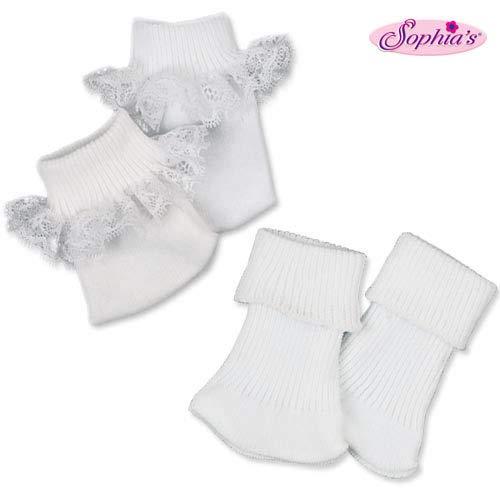 Sophias Doll Ankle Sock Set Fits 18 Inch American Girl Dolls Two Pair Sock Set
