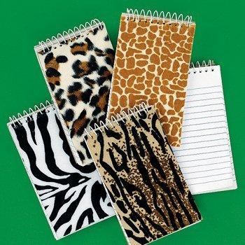 Fun Express Plush Animal Spiral Notepads - 12 Pieces