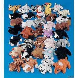 Plush Mini Bean Bag Animal Assortment 50 Pieces