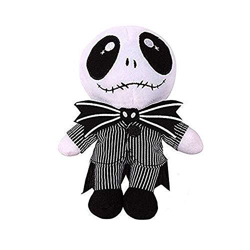 Alier Jack Skellington Plush Doll Nightmare Before Christmas Pumpkin King Plush Stuffed Baby Toy Dolls - 8 Inches