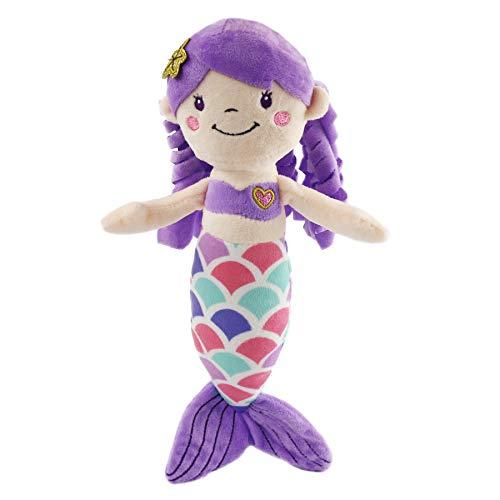 Athoinsu Mermaid Princess Stuffed Animals Soft Plush Toys Doll Birthday Valentines Childrens Day for Toddler Girls 12 Purple
