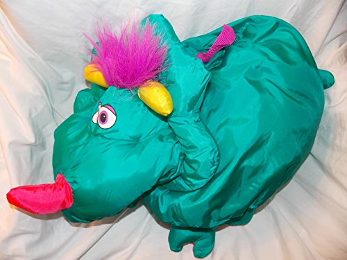 1995 Fisher Price Monster Big Things 23 Green Dinosaur Stuffed Animal