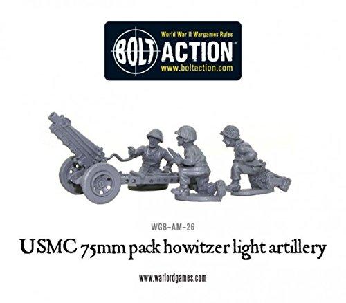 Usmc 75mm Pack Howitzer 28mm Metal Bolt Action Wargaming Miniatures
