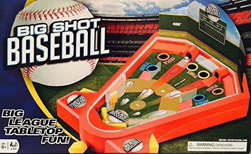 Big Shot Tabletop Baseball Pinball Machine 1 Player Indoor Outdoor Toy Game