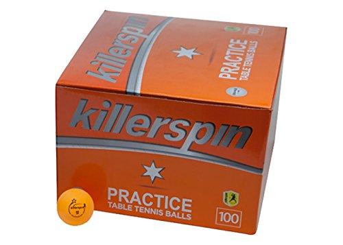 Killerspin Table Tennis Practice 1 Star Balls 100 Pack Orange