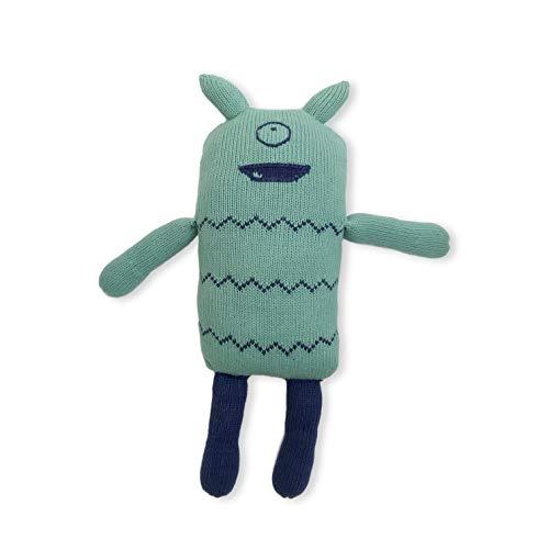 Finn  Emma Organic Cotton Knit 15 Big Buddy Baby Stuffed Animal Toy - Otto The Monster
