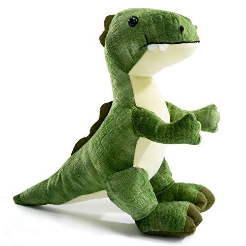 Plush T-Rex Dinosaur Baby Stuffed Animal Toy Kids Gift Green 10 by HollyHOME