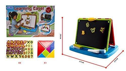 DD-1 deAO All in One Kids BlackboardWhiteboard Learning Easel by deAO