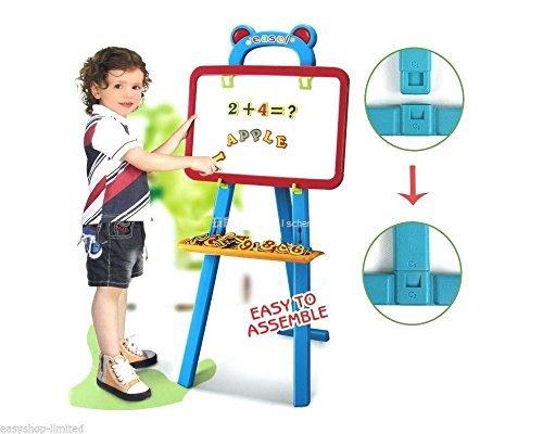 Kids Learning Easel 3in1 Chalkboard Wipe Board And A To Z Magnetic Letters by ALLKINDATHINGS