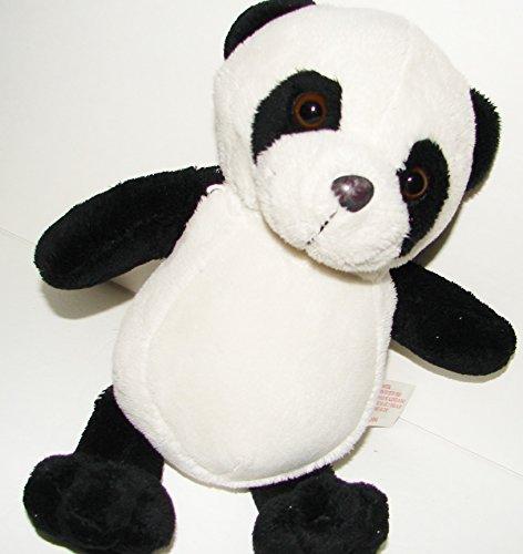 11 PLUSH PANDA BEAR Black and White Stuffed Animal Toy Jungle Teddy