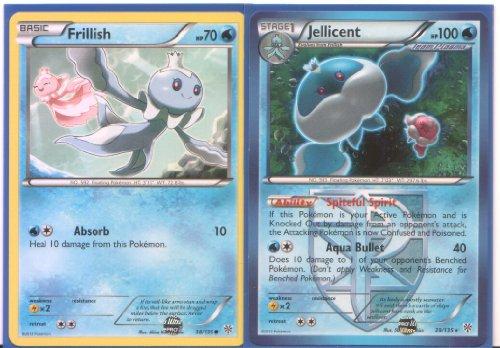 Jellicent Frillish - Rare Pokemon Card Evolution Set Plasma Storm 38 and 39