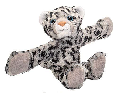 Wild Republic Huggers Snow Leopard Plush Toy Slap Bracelet Stuffed Animal Kids Toys 8 inches
