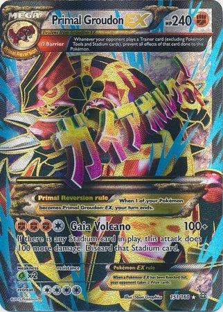 Pokemon Primal Clash Primal Groudon-EX - 151160 - Full Art Ultra Rare
