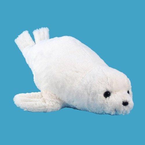 Wishpets 22 White Seal Plush Toy