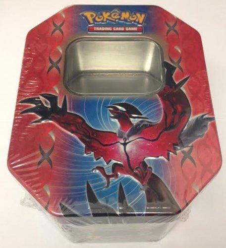 Empty Yveltal Tin for Pokemon Trading Card Storage Metallic Two-Piece