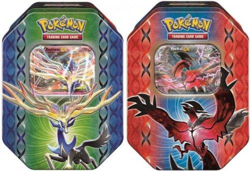 Pokemon 2014 Legend of Kalos Spring EX Tins SET BOTH 2 tins - 1 of each