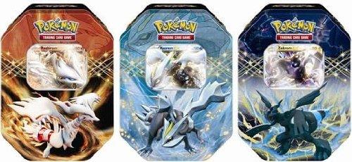Pokemon EX Spring 2012 Collectors Tin Set Kyurem Reshiram Zekrom