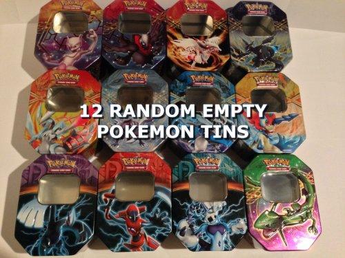 TWELVE 12 Random Empty POKEMON TINS - Super Variety Great Collectors Item