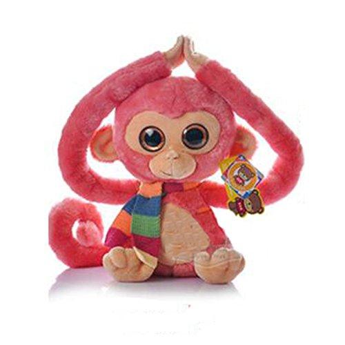 Dongcrystal Monkey Plush Toy Gibbons Stuffed Animal Doll-Pink