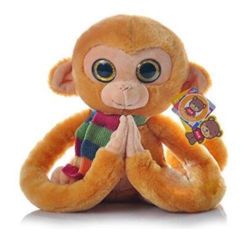 Dongcrystal Monkey Plush Toy Gibbons Stuffed Animal Doll- Yellow