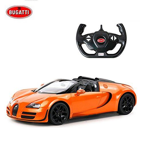 Remote Controller Car Bugatti Veyron 164 Electric Car Radio For Kids Grand Sport Vitesse Licensed Orange
