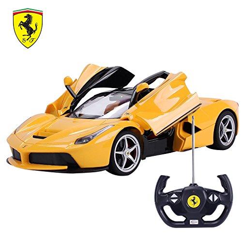 Remote Controller Car LaFerrari Ferrari Electric Car Radio For Kids Grand Sport Vitesse Licensed Yellow