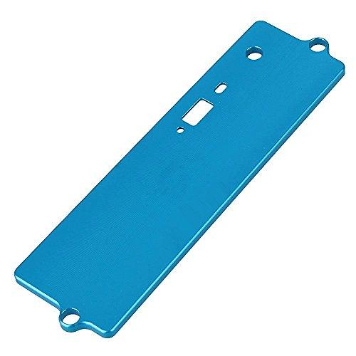 KingModel-CA 122064 Aluminum Battery Case Top Cover Upgrade Parts for HSP 110 RC Fuel Car Blue