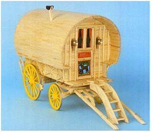 Bow Top Caravan Matchstick Construction model Kit -